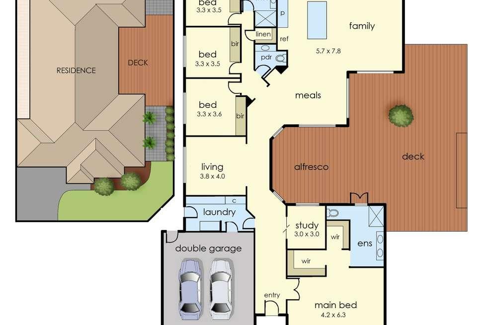 Floorplan of Homely house listing, 62 Moondarra Drive, Berwick VIC 3806