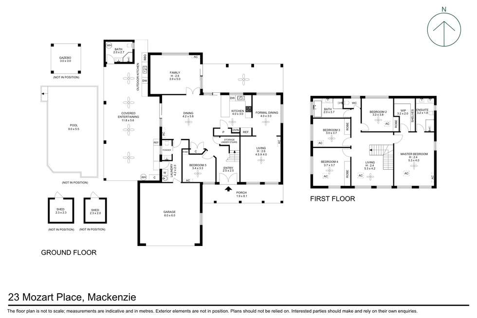 Floorplan of Homely house listing, 23 Mozart Place, Mackenzie QLD 4156