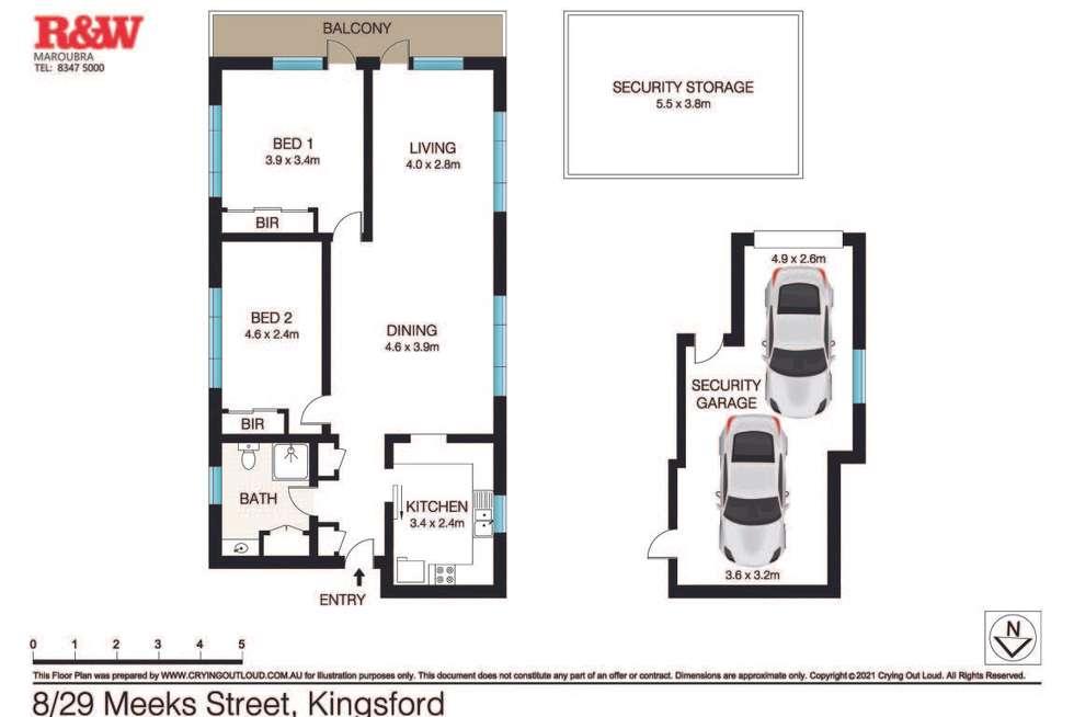 Floorplan of Homely apartment listing, 8/29 Meeks Street, Kingsford NSW 2032