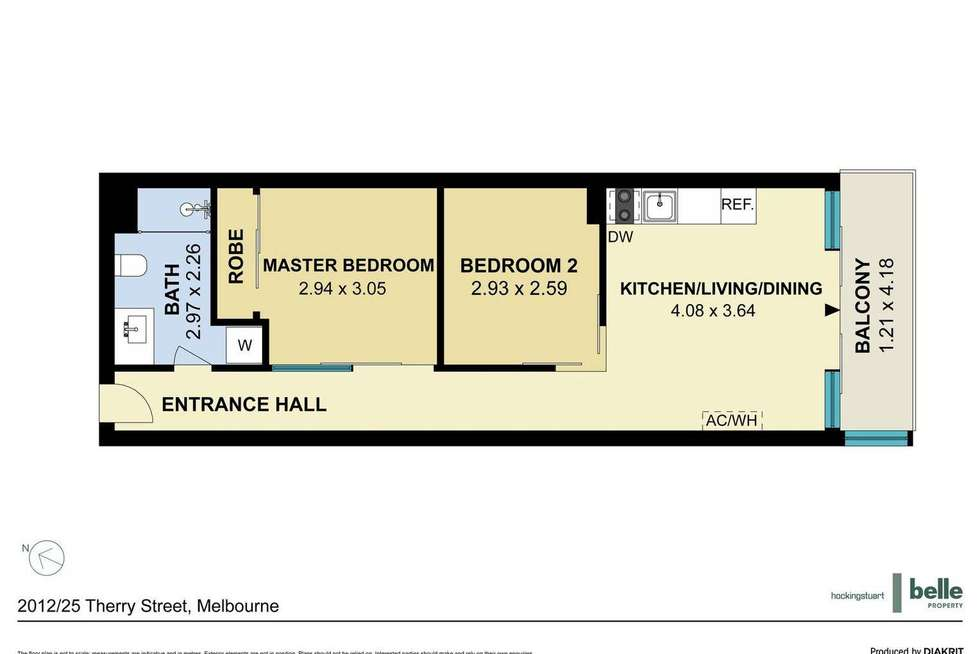 Floorplan of Homely apartment listing, 2012/25 Therry Street, Melbourne VIC 3000