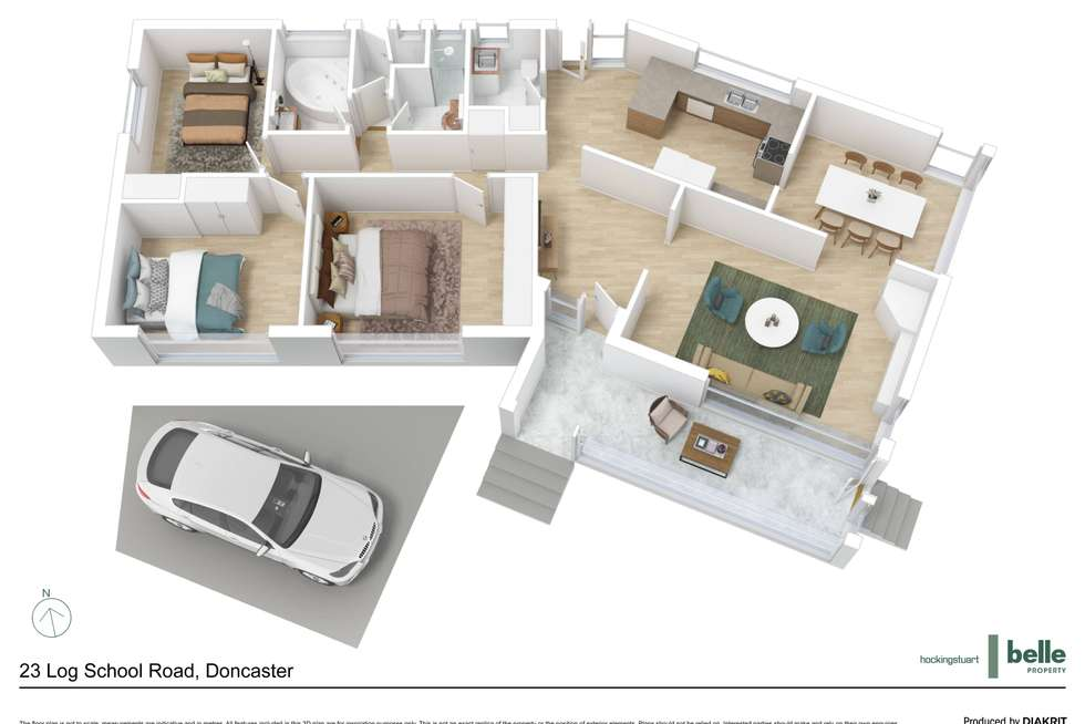 Floorplan of Homely house listing, 23 Log School Road, Doncaster VIC 3108