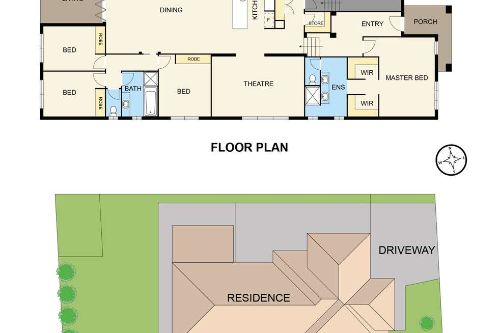 Floorplan of Homely house listing, 104 Jackson Drive, Drouin VIC 3818