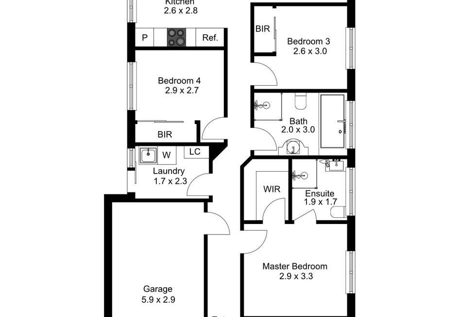 Floorplan of Homely house listing, 63 Peerless Road, Munno Para West SA 5115