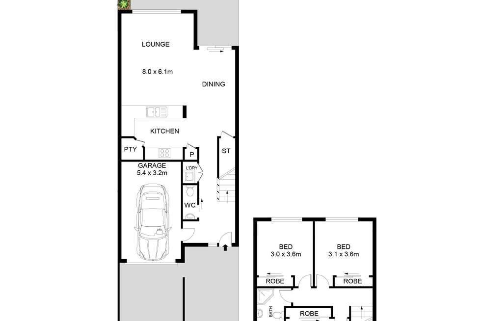 Floorplan of Homely townhouse listing, 5/63-65 Park Road, Rydalmere NSW 2116