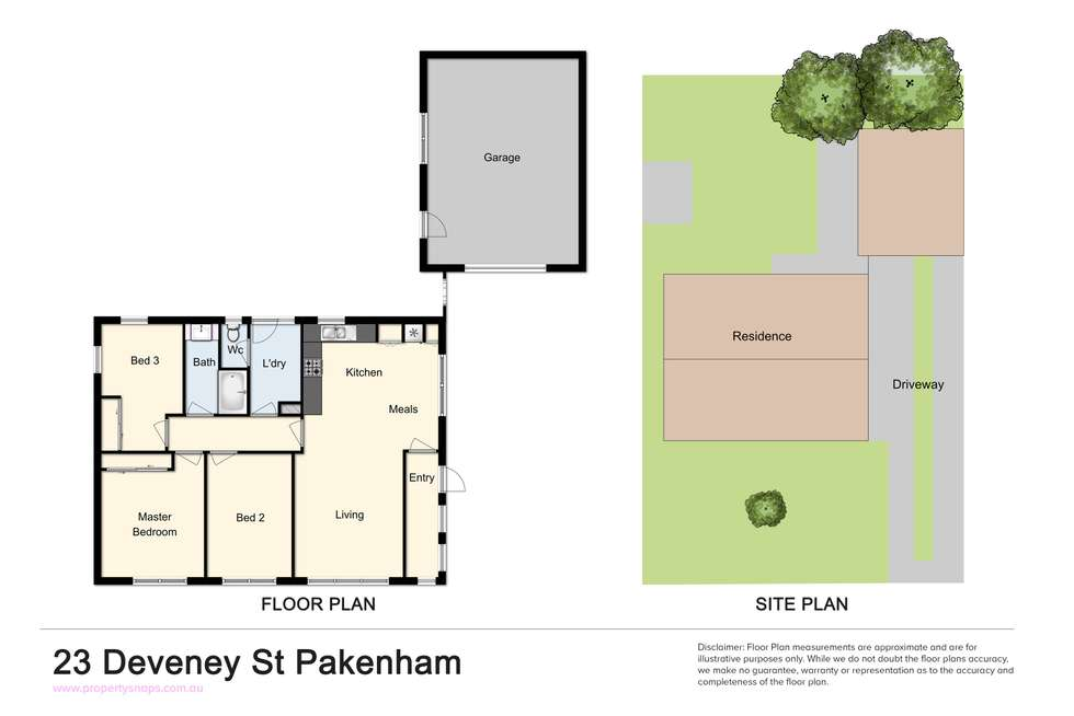 Floorplan of Homely house listing, 23 Deveney Street, Pakenham VIC 3810