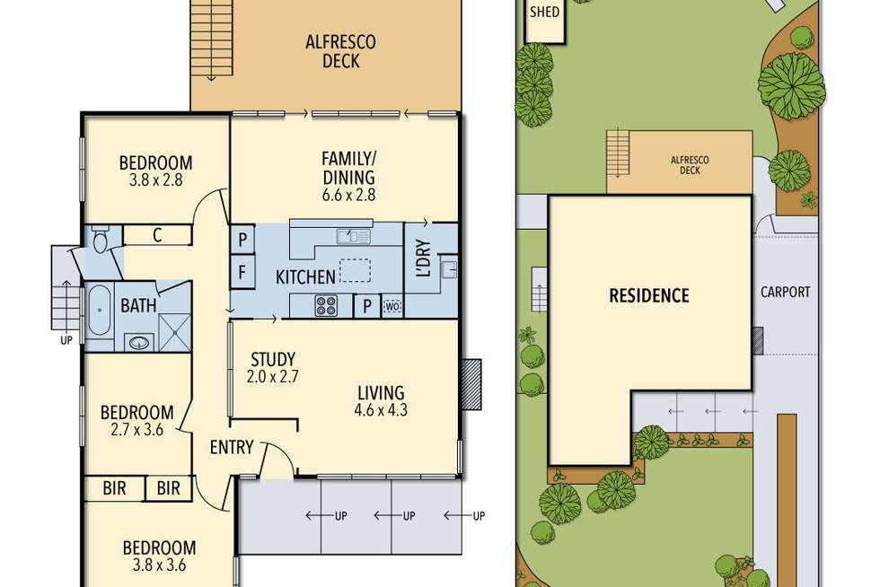 Floorplan of Homely house listing, 28 Moreton Crescent, Bundoora VIC 3083
