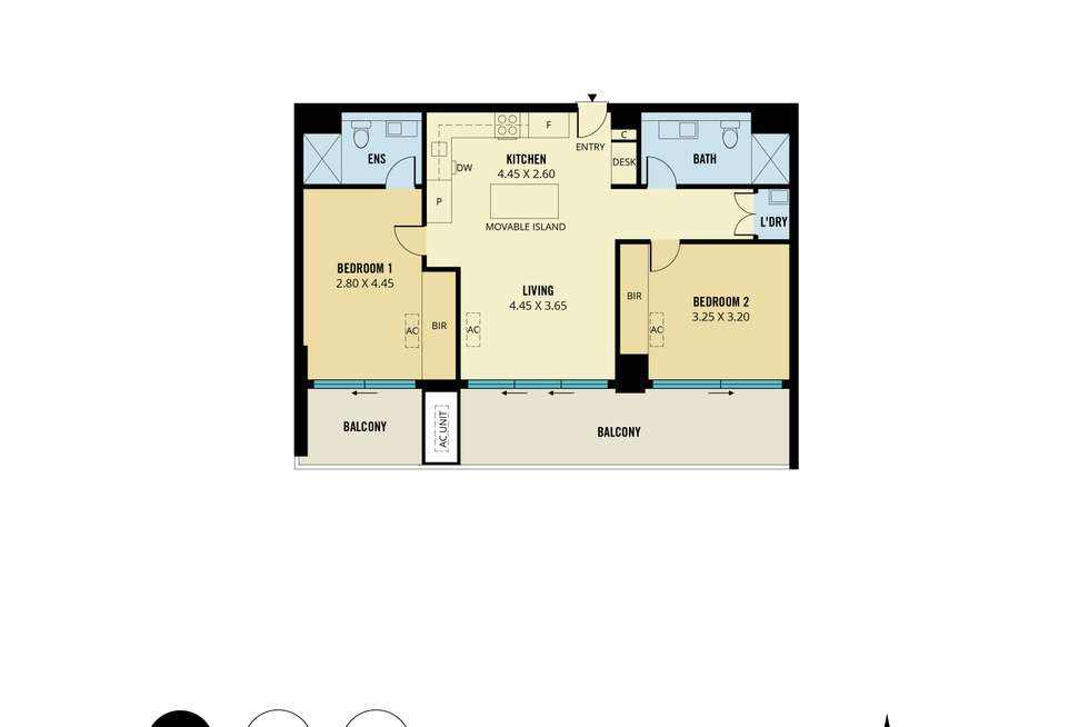 Floorplan of Homely apartment listing, 2102/17 Penny Place, Adelaide SA 5000