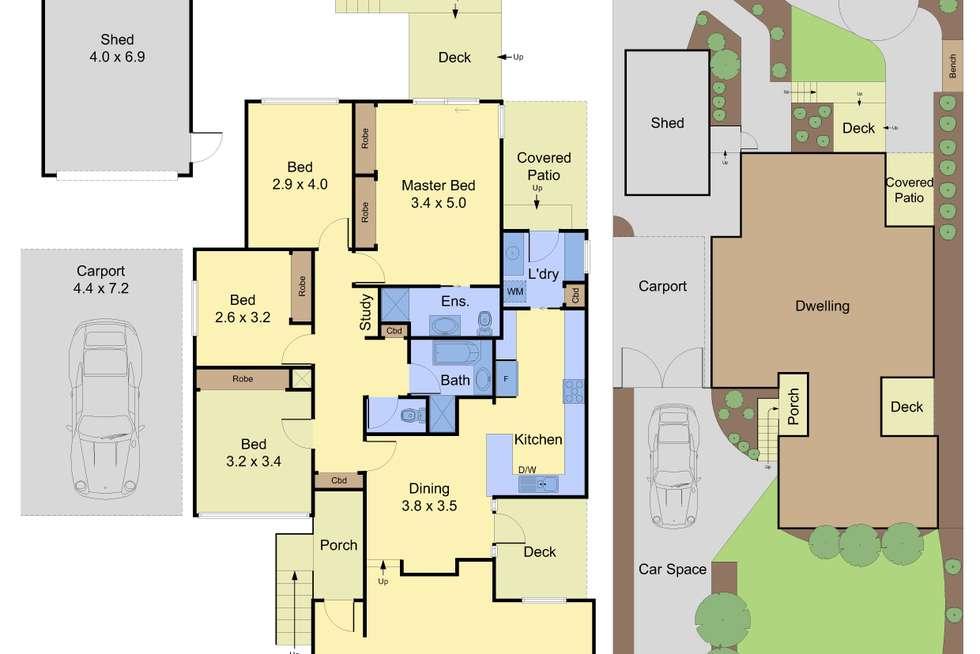 Floorplan of Homely house listing, 22 Aanensen Court, Montmorency VIC 3094