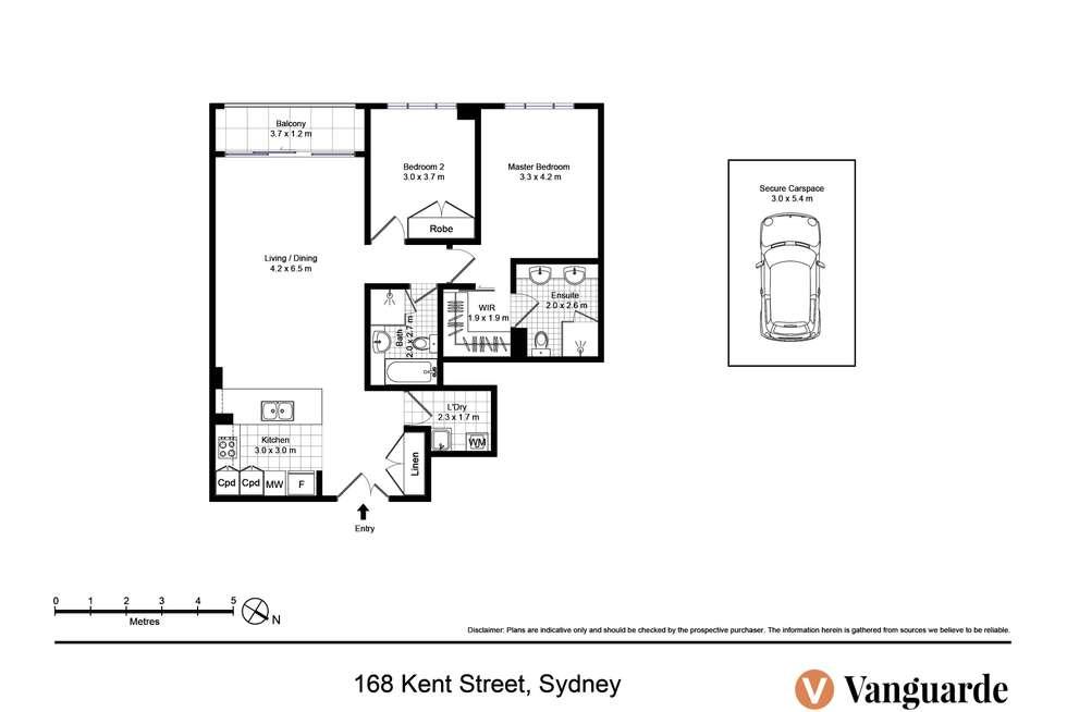 Floorplan of Homely apartment listing, 168 Kent Street, Sydney NSW 2000