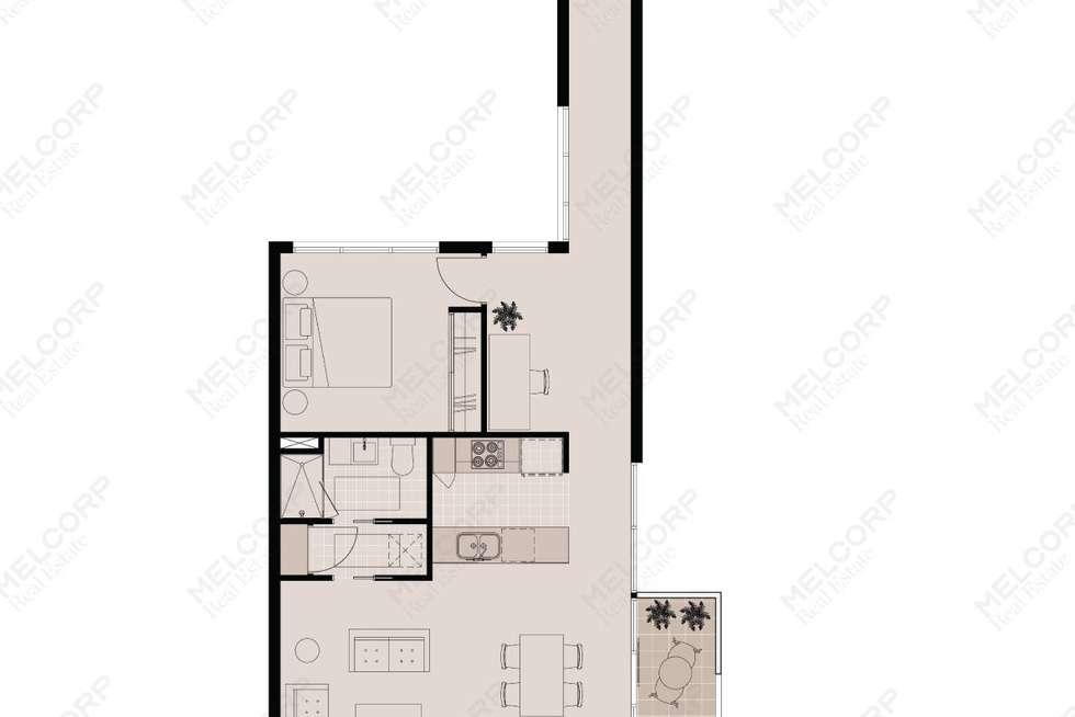 Floorplan of Homely apartment listing, 218/150 Kerr Street, Fitzroy VIC 3065