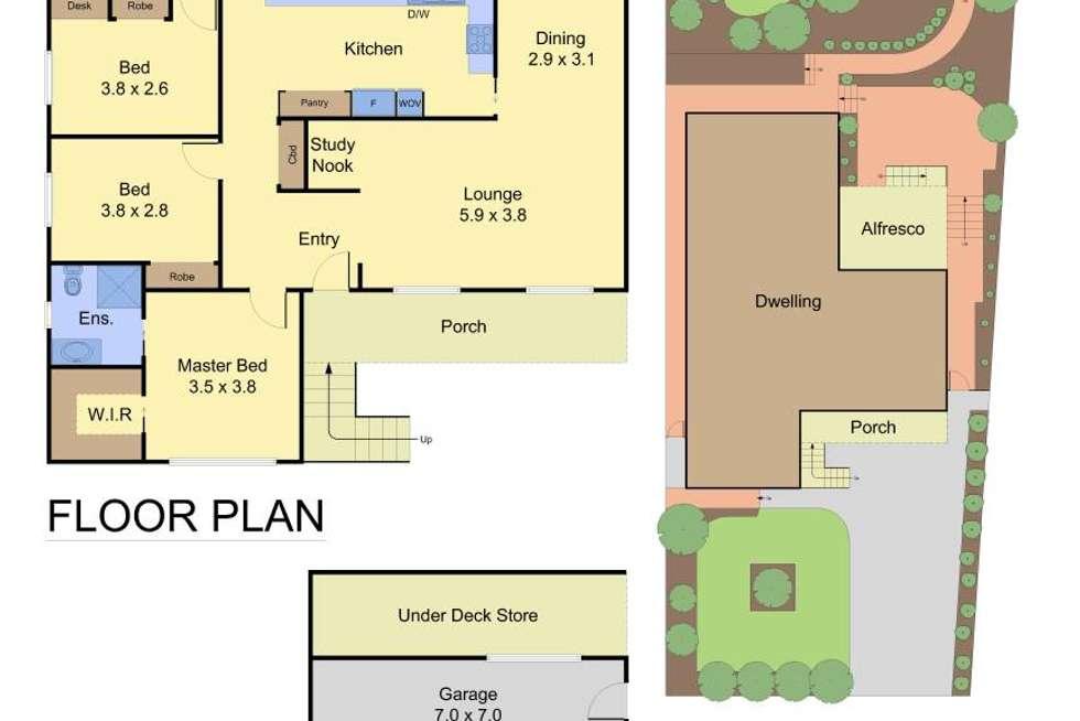 Floorplan of Homely house listing, 118 Plenty River Drive, Greensborough VIC 3088