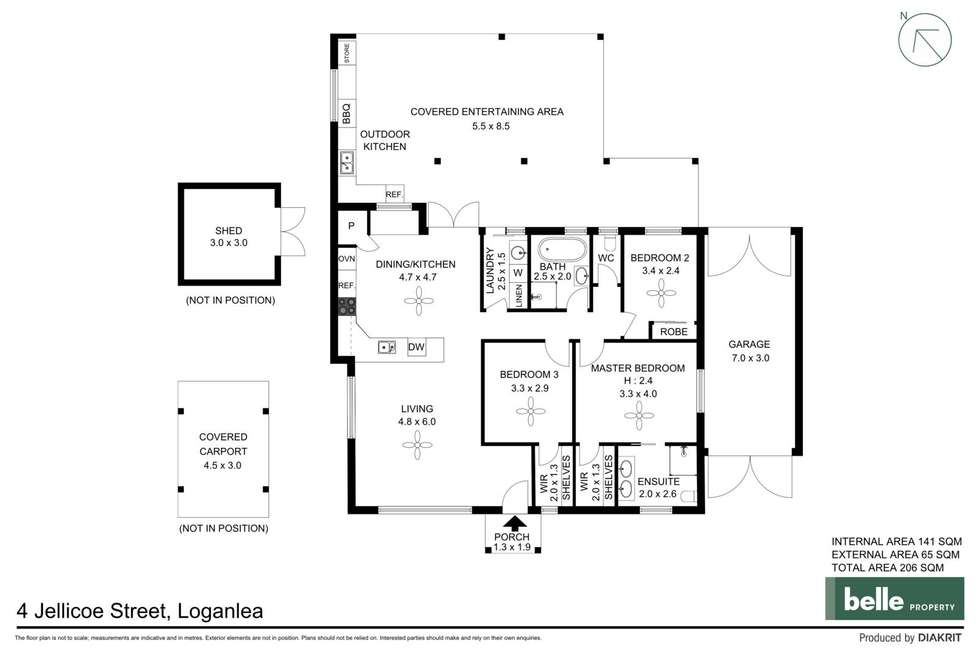 Floorplan of Homely house listing, 4 Jellicoe Street, Loganlea QLD 4131