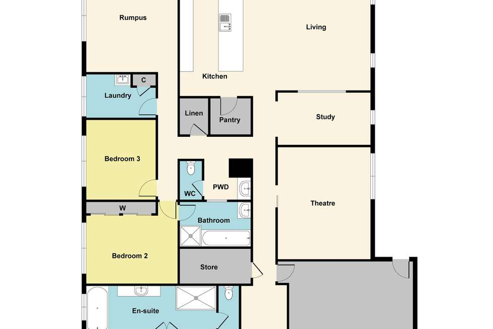 Floorplan of Homely house listing, 26 Oakbank Drive, Mount Helen VIC 3350