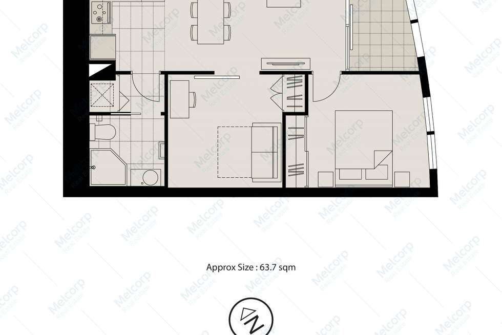 Floorplan of Homely apartment listing, 2810/9 Power Street, Southbank VIC 3006