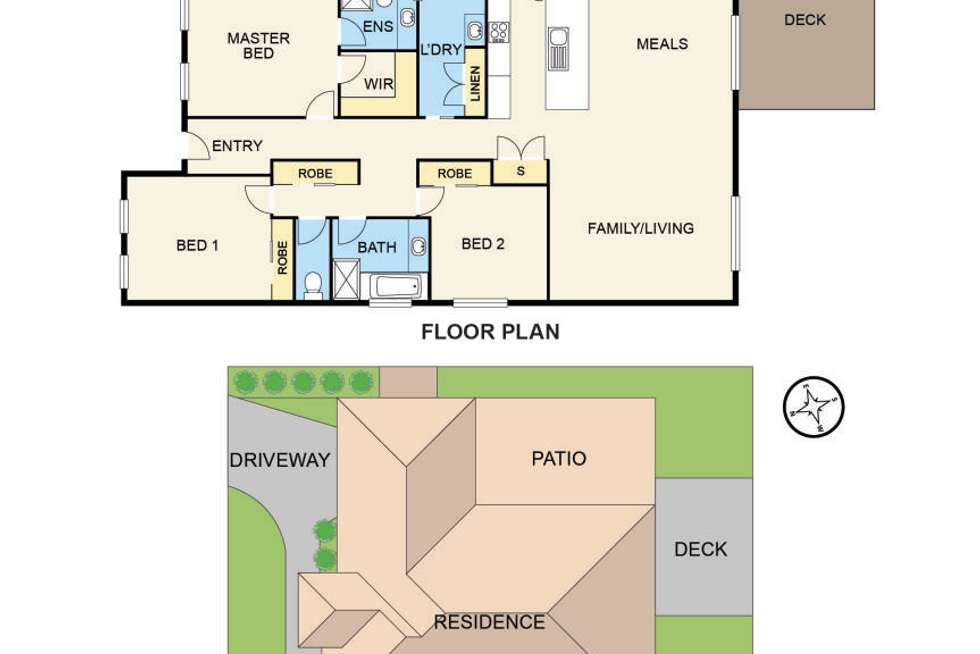 Floorplan of Homely house listing, 30 Flinders Park Drive, Officer VIC 3809