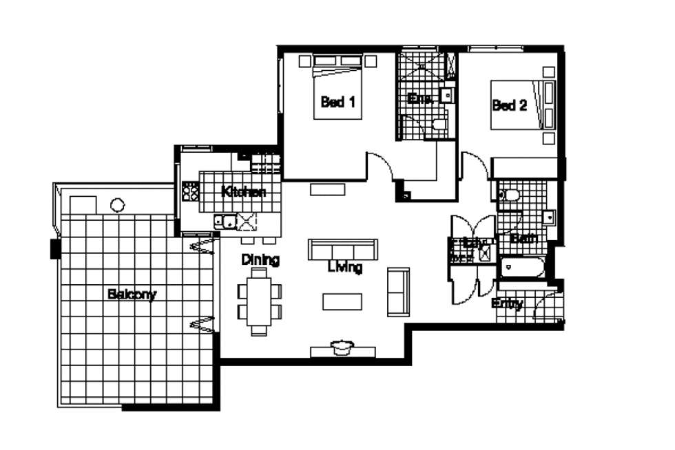 Floorplan of Homely unit listing, 701/30 Riverview Terrace, Indooroopilly QLD 4068