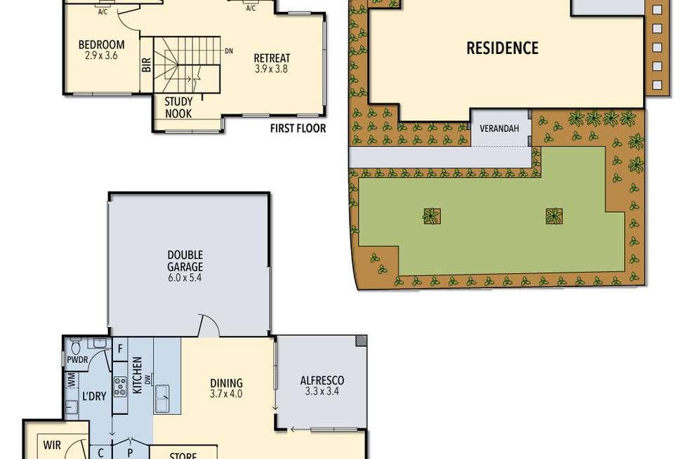 Floorplan of Homely townhouse listing, 1/27 Richards Avenue, Watsonia VIC 3087