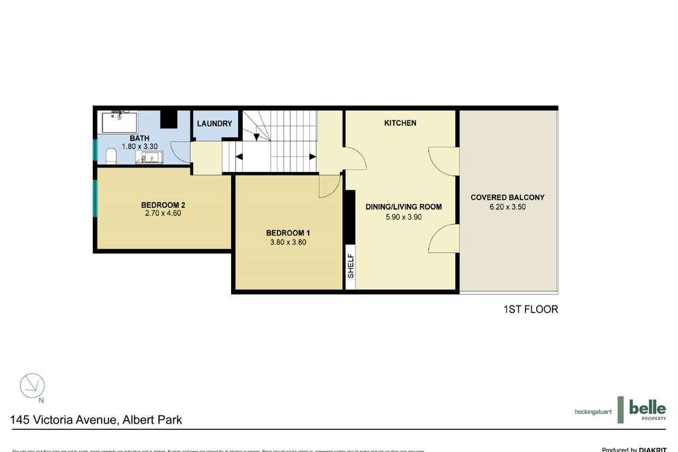 Floorplan of Homely apartment listing, 1/145 Victoria Avenue, Albert Park VIC 3206