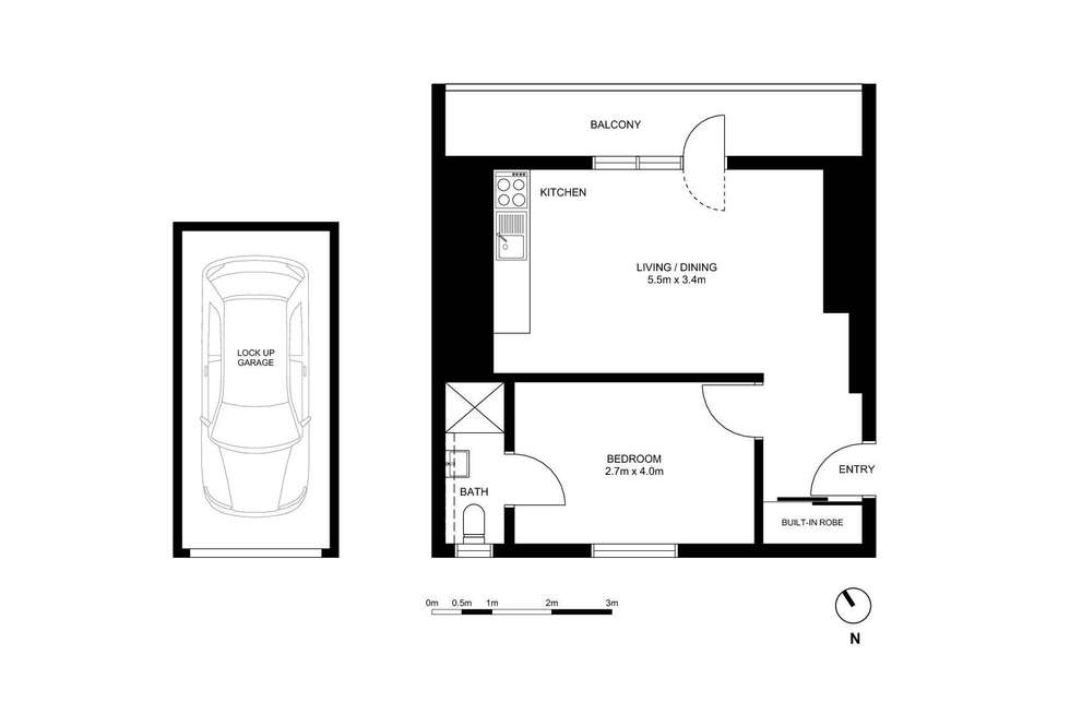 Floorplan of Homely apartment listing, 18/54 Johnston Street, Annandale NSW 2038
