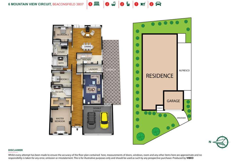 Floorplan of Homely house listing, 6 Mountain View Circuit, Beaconsfield VIC 3807
