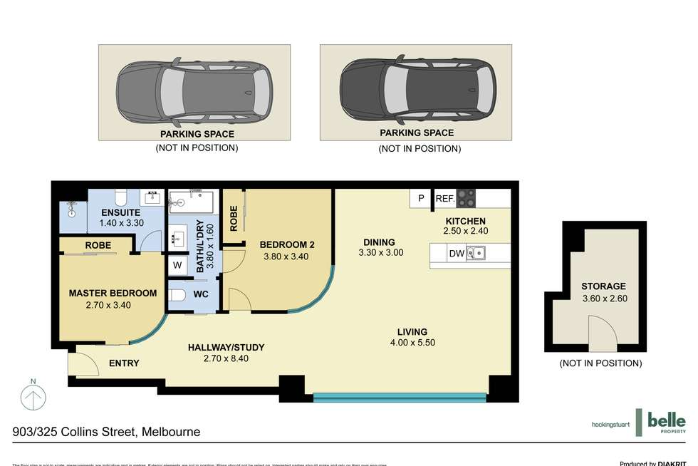 Floorplan of Homely apartment listing, 903/325 Collins Street, Melbourne VIC 3000