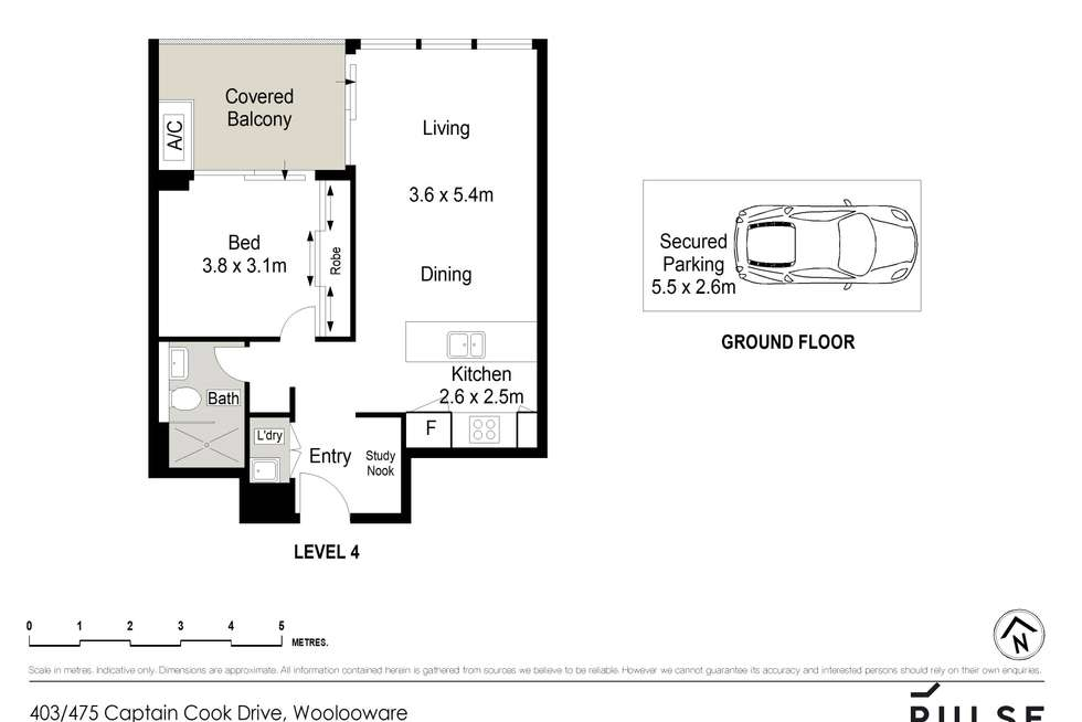 Floorplan of Homely apartment listing, 403/475 Captain Cook Drive, Woolooware NSW 2230