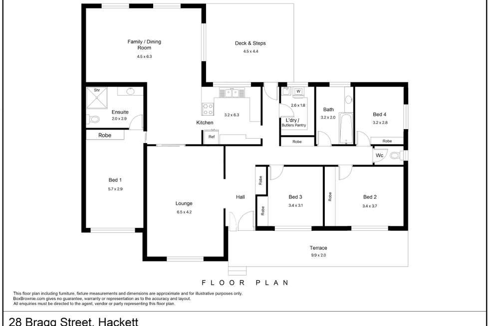 Floorplan of Homely house listing, 28 Bragg Street, Hackett ACT 2602