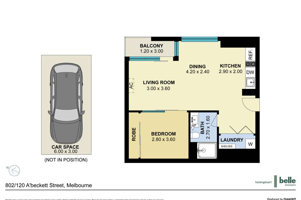 Floorplan of Homely apartment listing, 802/120 A'beckett Street, Melbourne VIC 3000
