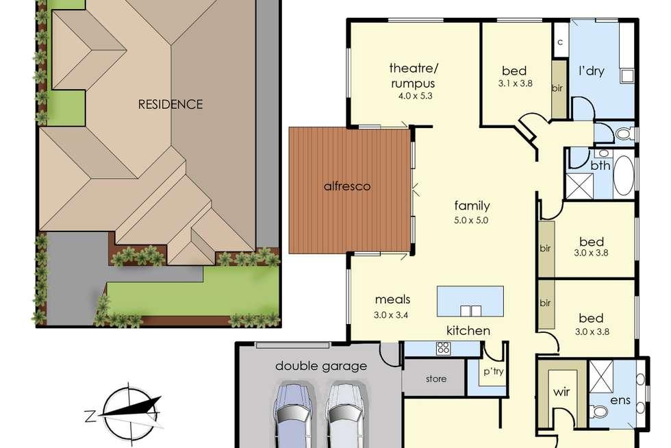 Floorplan of Homely house listing, 7 Golden Way, Skye VIC 3977