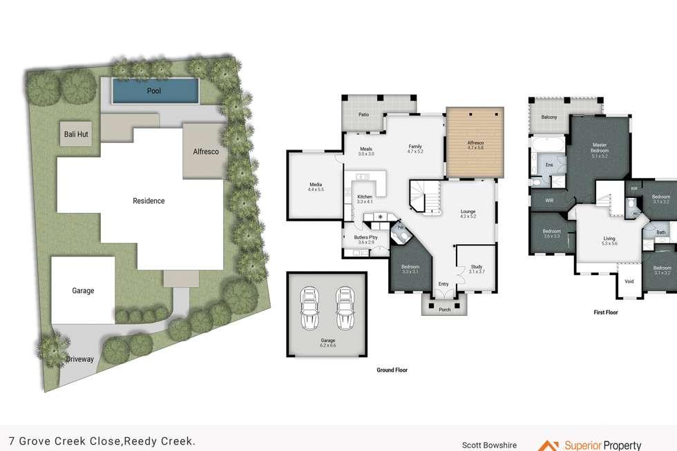 Floorplan of Homely house listing, 7 Grove Creek Close, Reedy Creek QLD 4227