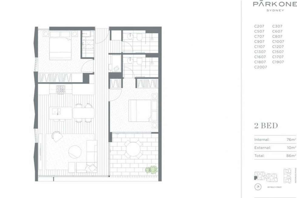 Floorplan of Homely apartment listing, 1007C/80 Waterloo Road, Macquarie Park NSW 2113