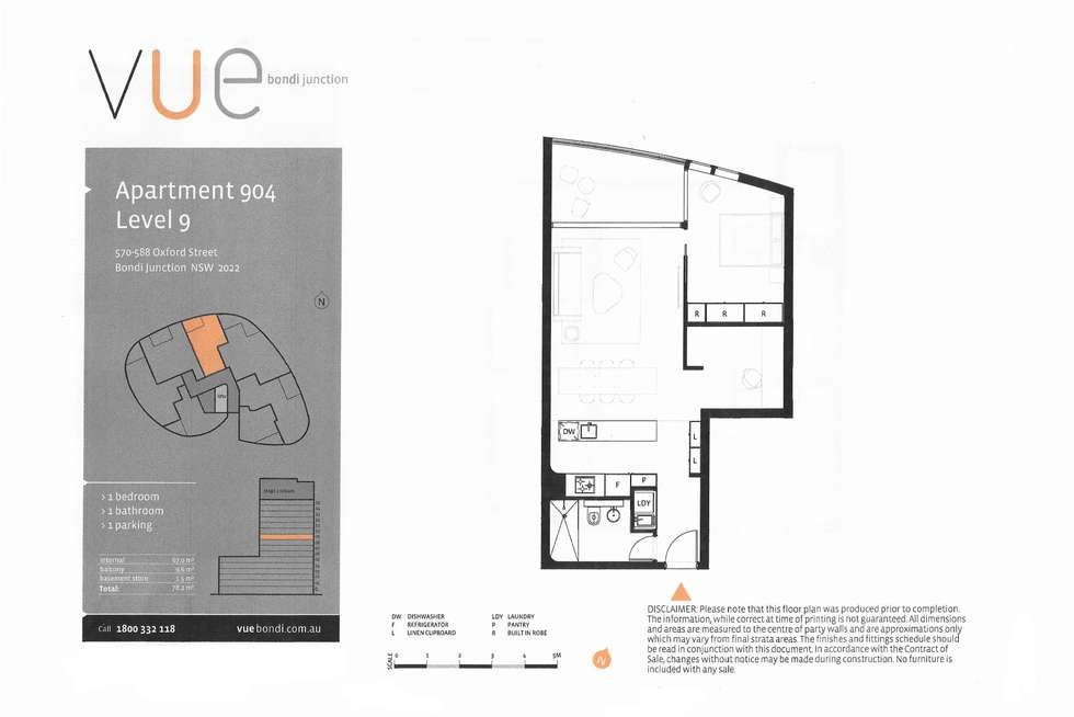 Floorplan of Homely apartment listing, 904/570-588 Oxford Street, Bondi Junction NSW 2022