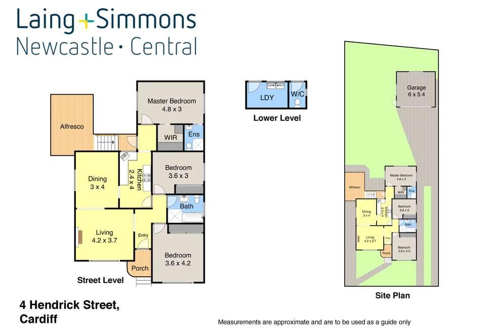 Floorplan of Homely house listing, 4 Hendrick Street, Cardiff NSW 2285