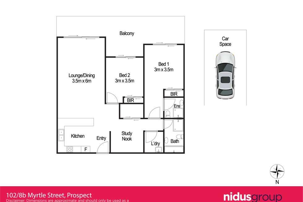 Floorplan of Homely apartment listing, 102/8B Myrtle Street, Prospect NSW 2148