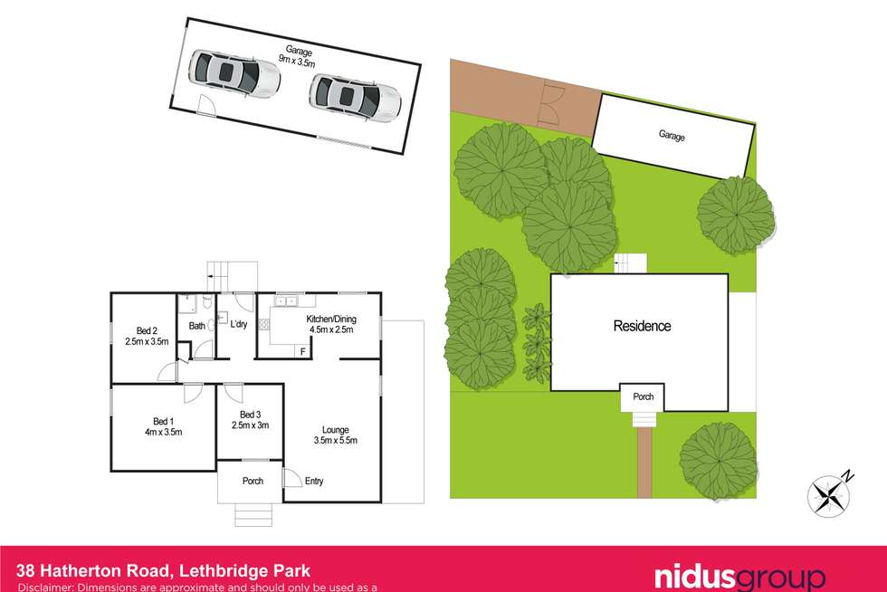 Floorplan of Homely house listing, 38 Hatherton Road, Lethbridge Park NSW 2770