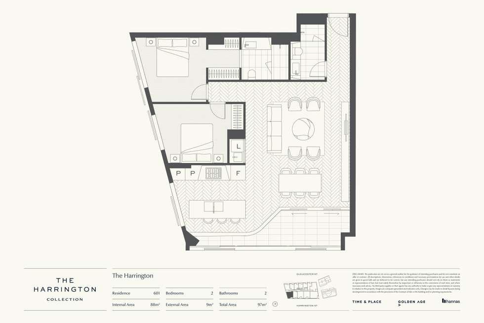 Floorplan of Homely apartment listing, Level 6/85 Harrington Street, The Rocks NSW 2000