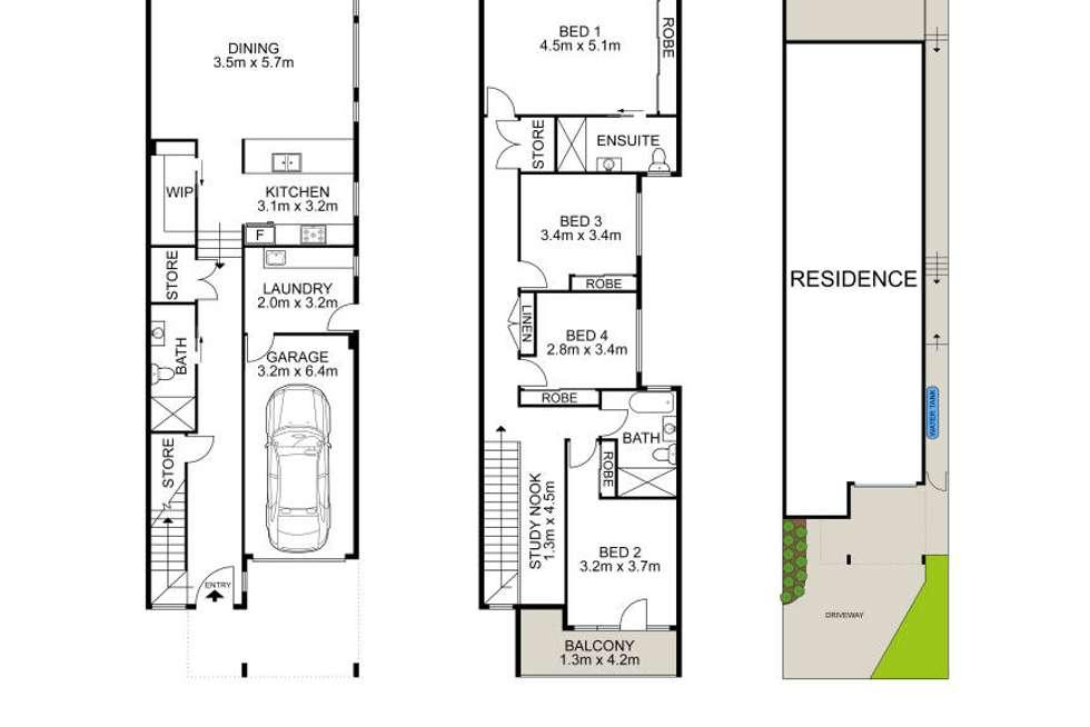 Floorplan of Homely semiDetached listing, 25 Stewart Street, Dundas Valley NSW 2117