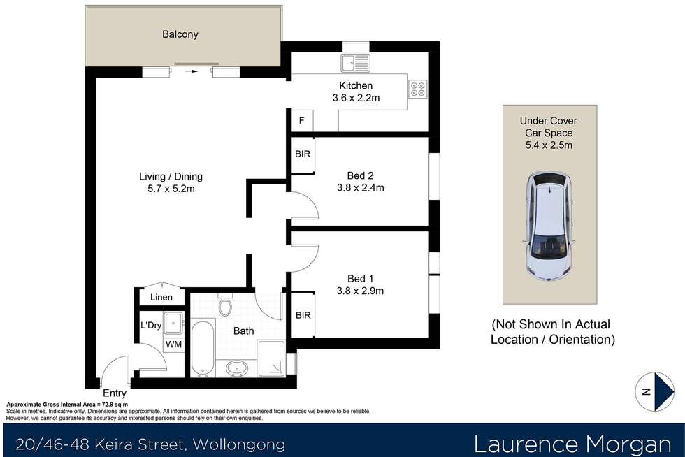 Floorplan of Homely apartment listing, 20/46-48 Keira Street, Wollongong NSW 2500
