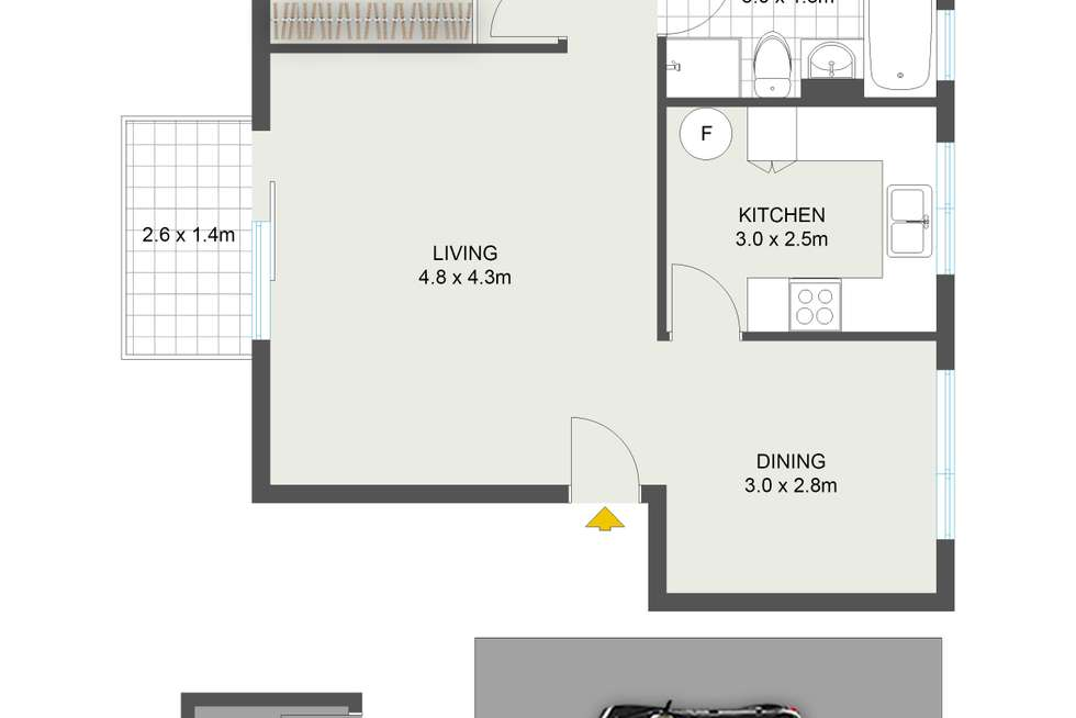 Floorplan of Homely apartment listing, 1/2 Ford Road, Maroubra NSW 2035