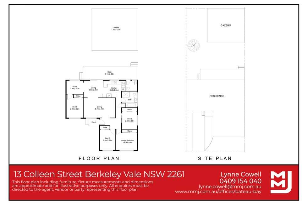 Floorplan of Homely house listing, 13 Colleen Street, Berkeley Vale NSW 2261