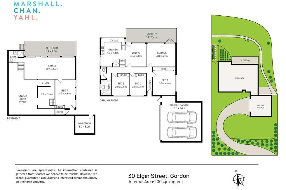 Floorplan of Homely house listing, 30 Elgin Street, Gordon NSW 2072