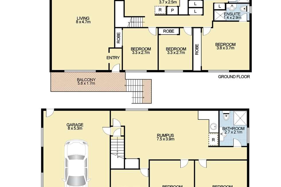 Floorplan of Homely house listing, 5 Blake Street, Armidale NSW 2350