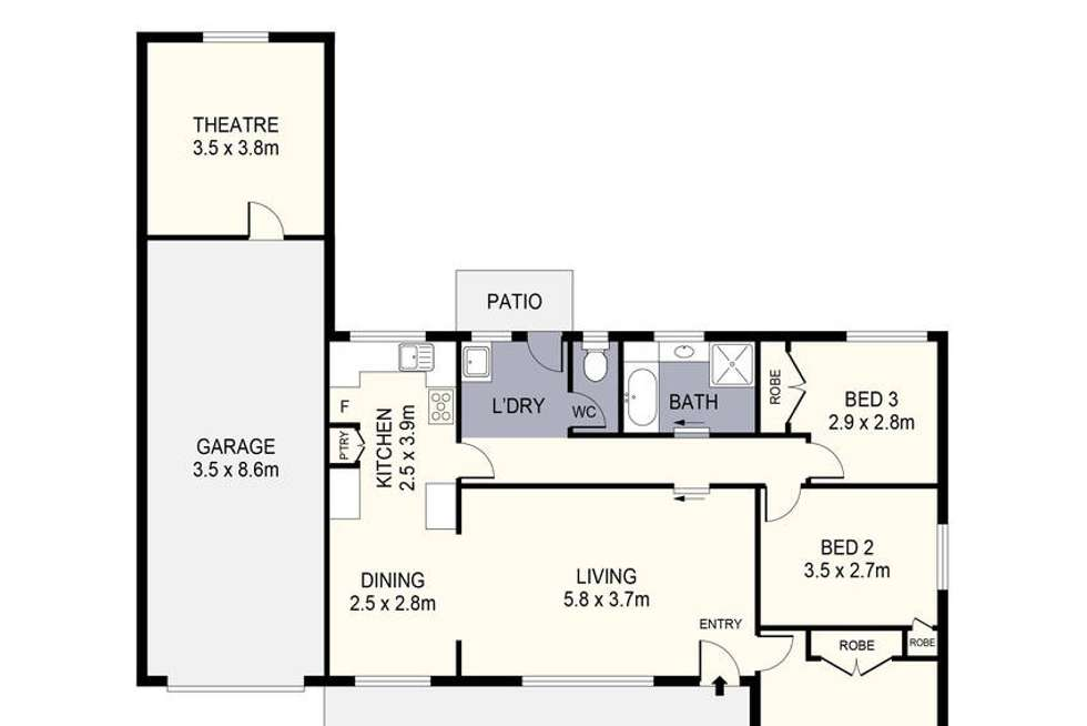 Floorplan of Homely house listing, 88 Gill Avenue, California Gully VIC 3556
