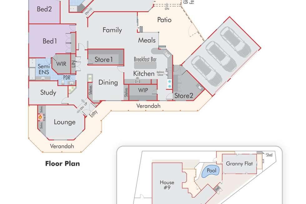 Floorplan of Homely house listing, 9 Mallard Rise, Kingsley WA 6026