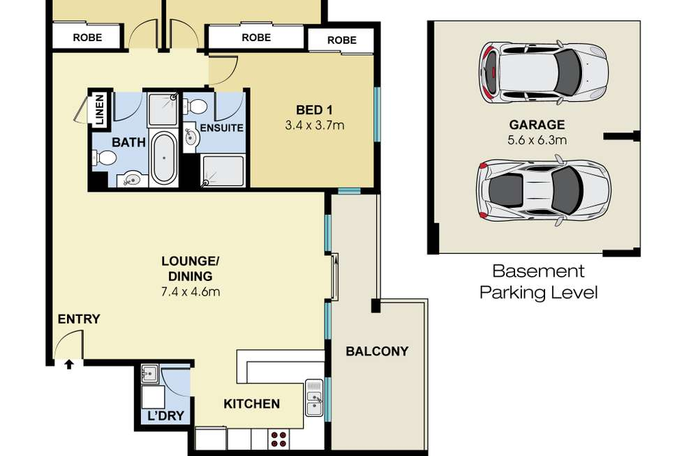 Floorplan of Homely apartment listing, 10/33 Kinsellas Drive, Lane Cove NSW 2066