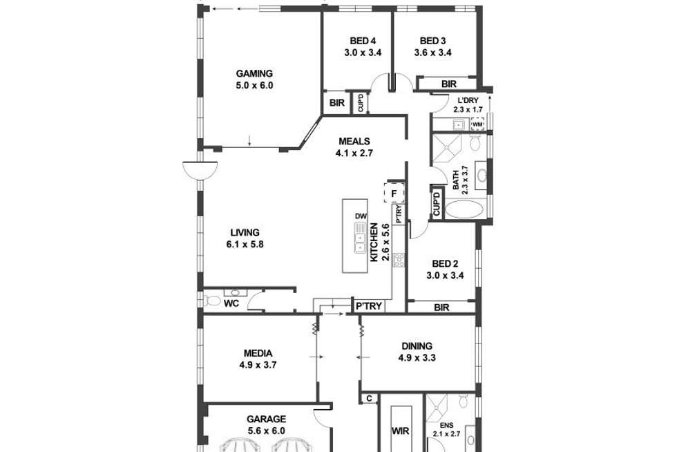 Floorplan of Homely house listing, 15 William Buckley Drive, Carnes Hill NSW 2171