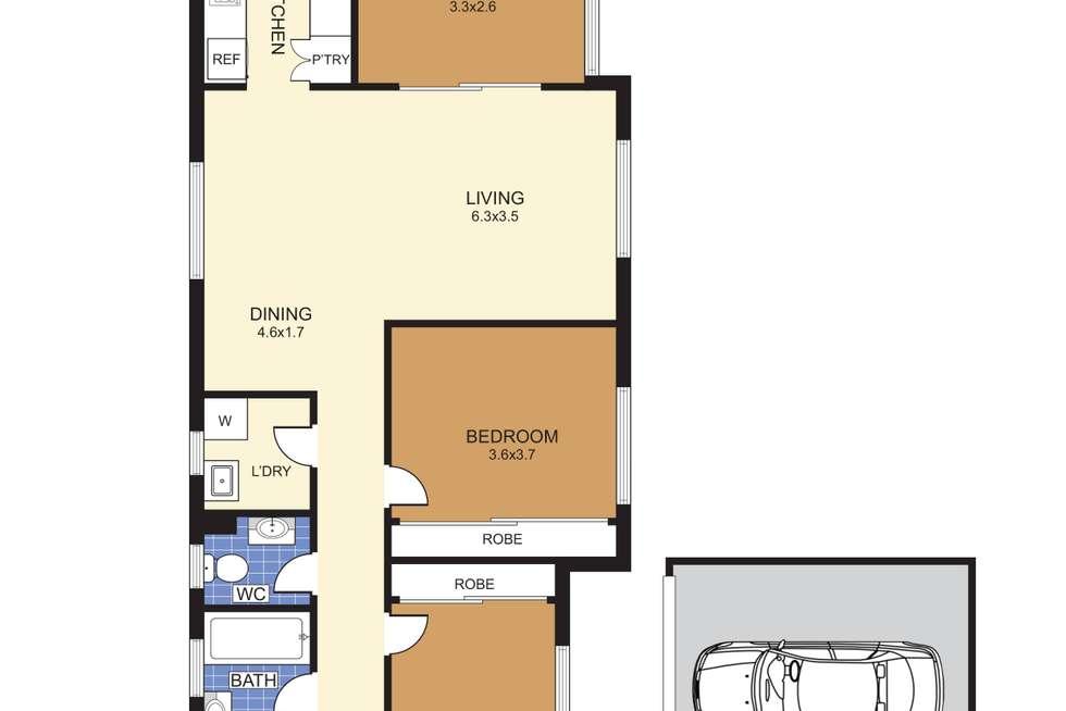 Floorplan of Homely apartment listing, 2/57 Kensington Road, Kensington NSW 2033