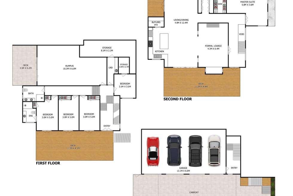 Floorplan of Homely house listing, 3 Arran Avenue, Hamilton QLD 4007