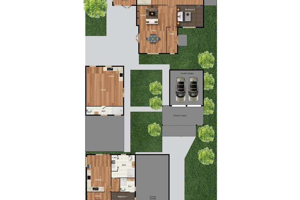 Floorplan of Homely house listing, 6A & 6B George Street, Oaks Estate ACT 2620