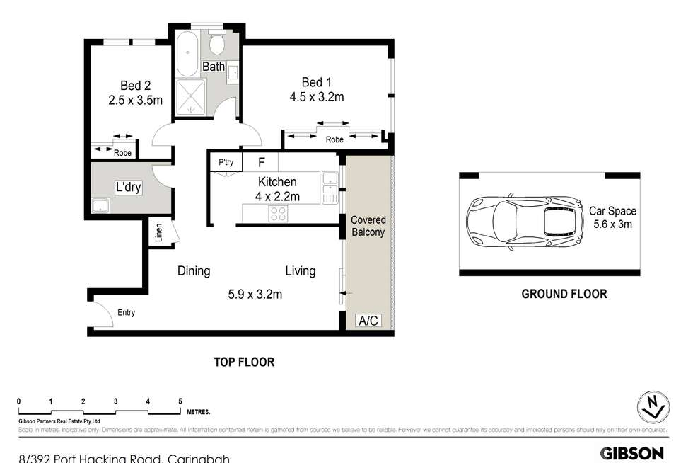 Floorplan of Homely apartment listing, 8/392 Port Hacking Road, Caringbah NSW 2229